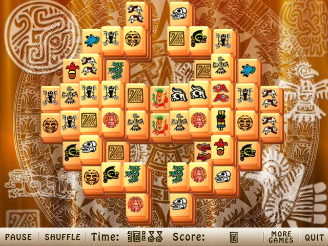 Screenshot of Aztec Mahjong